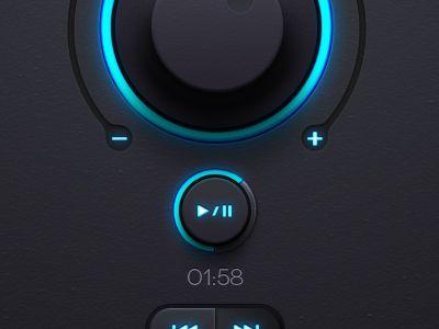 Dribbble - Dark Led UI kit by Pixeden