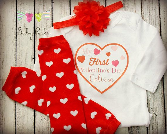 Baby Girl My First Valentines Day Outfit Babys by MsPerks