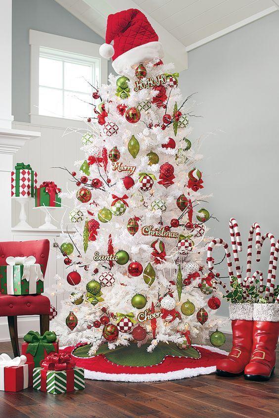 decoracin para rboles de navidad blancos dale detalles - Arboles De Navidad Blancos