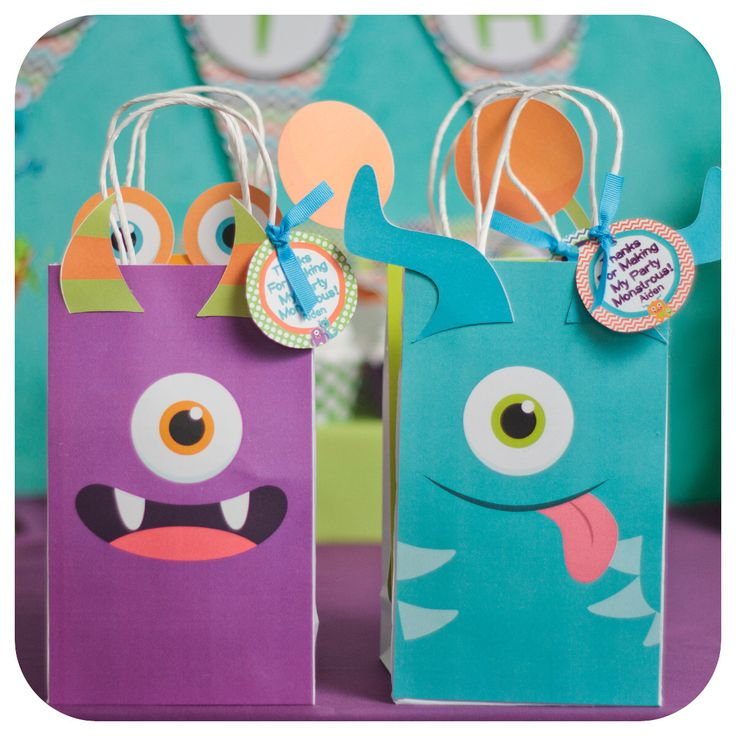 Little Monsters; Little Monsters Party; Monster Birthday Party; Little Monsters Birthday Party; Little Monsters Gift Bag Shipped to you! by KraftsbyKaleigh on Etsy https://www.etsy.com/listing/253470851/little-monsters-little-monsters-party