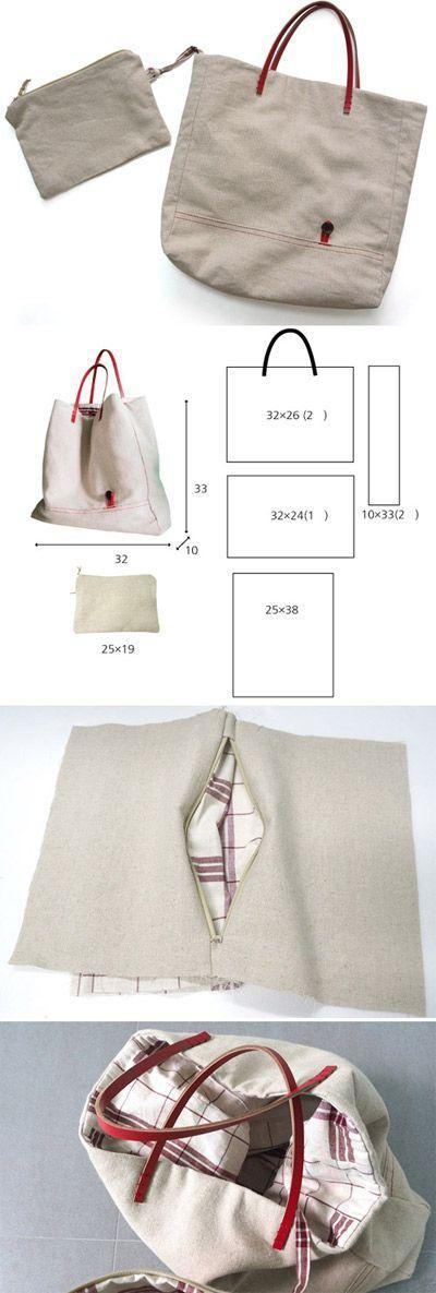Partilhamos aqui duas sugestões de carteiras grandes.          Boas Costuras!  …