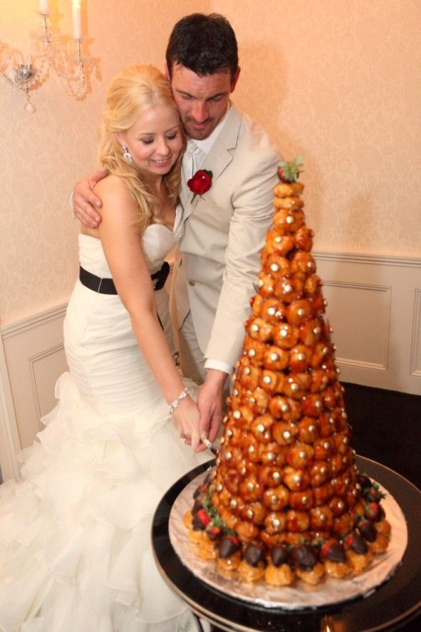 Cake by C'est Si Bon, Rose Bay. #croquembouche #weddingcake