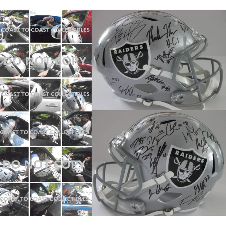 2017 Oakland Raiders Team, Signed, Autographed, Speed Full Size Football Helmet, a COA with the Proof Photos of the Raiders Players Signing the Helmet Will Be Included.Derek Carr Plus More