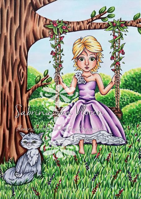 Eliza's flower swing and Kitty by Flowers, Feathers & Fairies