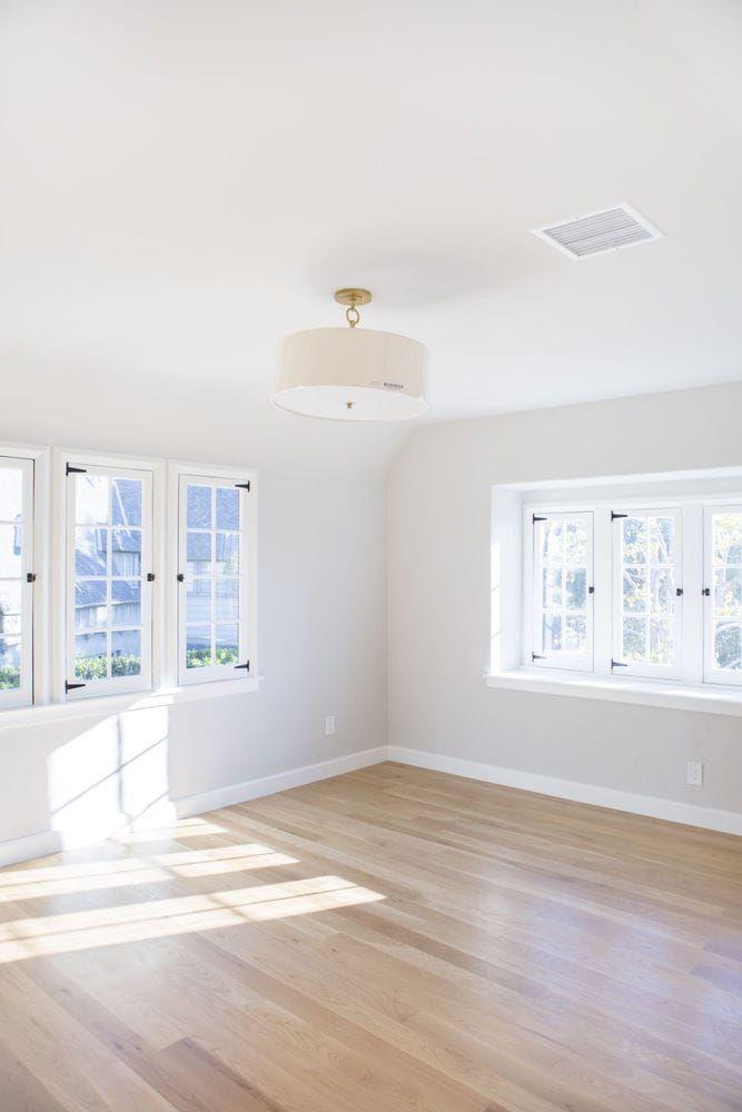 Builddirect Tungston Hardwood Unfinished Oak Grey Walls White Trim White Oak Floors Light Grey Paint Colors