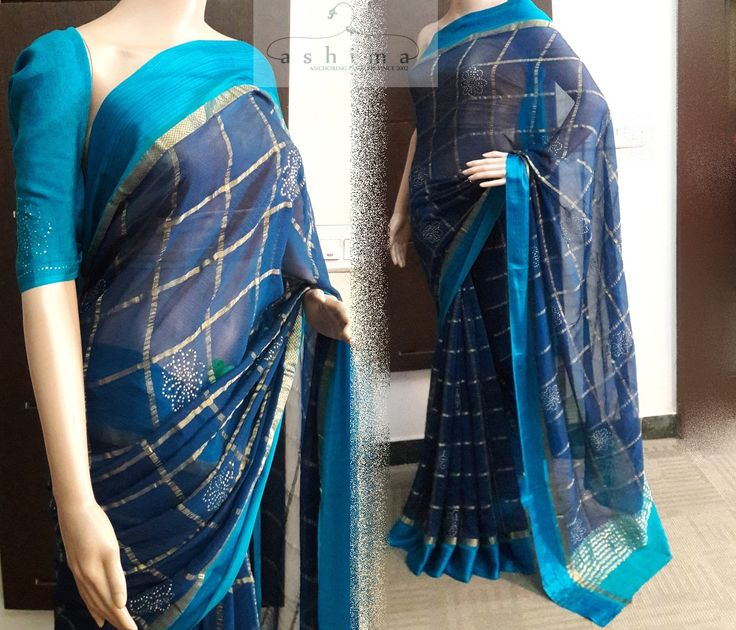 Code:3108175 - Price INR:9600/- , Chiffon Saree With Badla Work.
