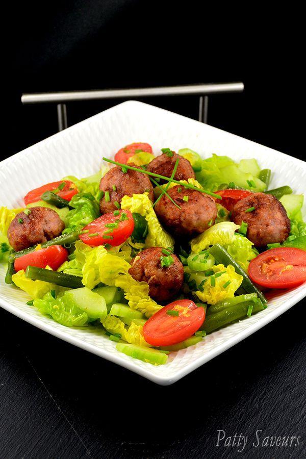 Italian Sausage Meatballs Salad