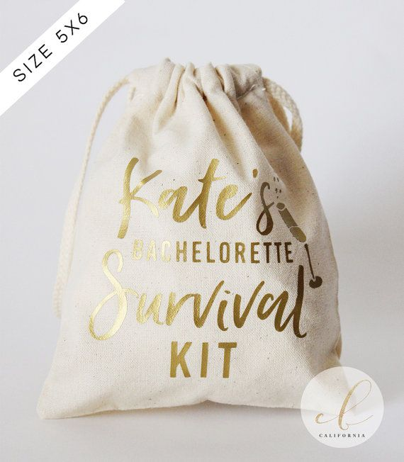 Personalized Bachelorette Party Survival Kit // by CottonAndBirch