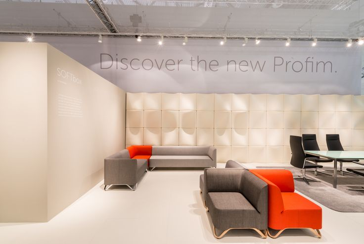 #Profim at Orgatec 2014 in Cologne. Collections: SOFTbox and myTURN (on the right). Design: Paul Brooks.