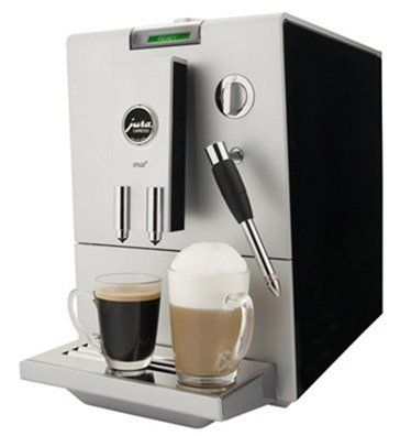 """Jura ENA 4 Espresso Machine - Black by Jura. $699.00. If you were to visit a cafe in Greece, you might ask, """"Thelo ena kafe."""" But with the Jura ENA 4 Automatic Coffee Center, you'll want more than just ena. Jura's sleek and petite superautomatic machine has the fully programmable features that deliver perfect espresso drinks every time and powerhouse elements such as a built-in, professional-grade grinder and the Clearyl water filtration system. So go ahead, order duo or e..."""
