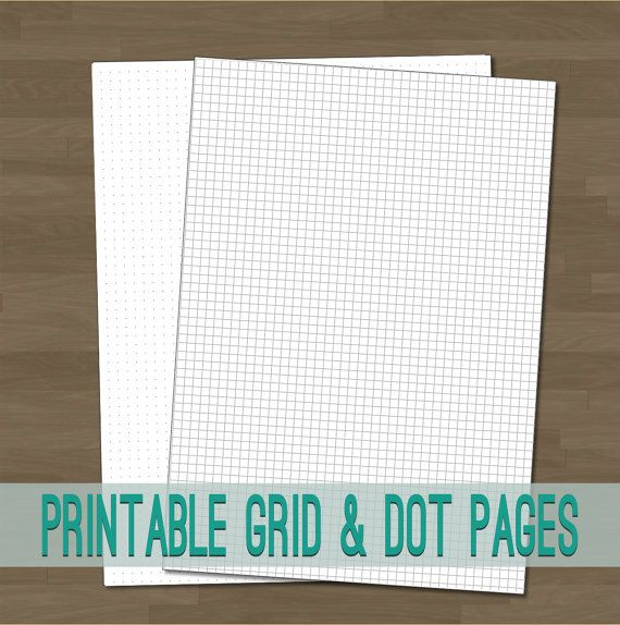 Plain Square Grid and Dot Grid Printable Planner Pages by toPrint