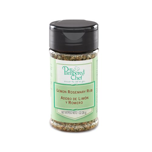 75 Lemon Rosemary Rub - The Pampered Chef™ Tangy lemon and rosemary ...