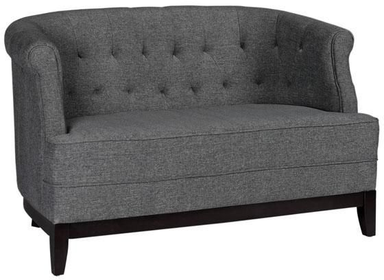 Tufted studio sofa stunning not to mention highly for Small tufted sofa