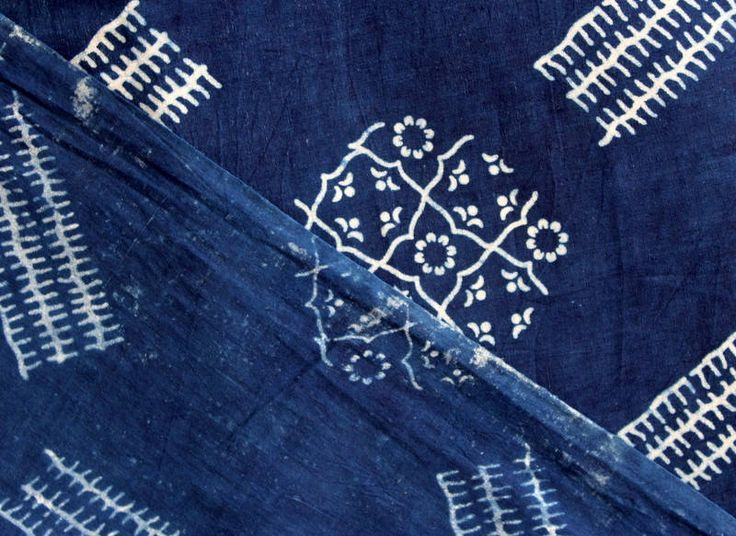 Sold By Yard Indigo Fabric From India, Batik Fabric,Cotton Fabric, Block Printed Fabric, Indigo Blue Vegetable Dye Cotton Fabric HPS#314 by handprintedshop on Etsy