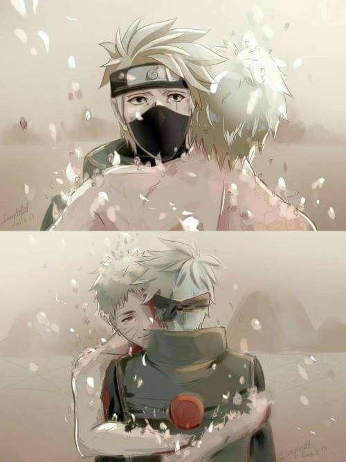Obito Uchiha and Kakashi Hatake ♥♥♥ #TeamMinato #Cute #Love #Farewell #Future #Eyes #War #Comrades