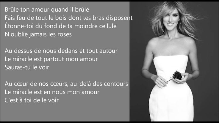 Le Miracle [Céline Dion] EasyREAD Lyrics