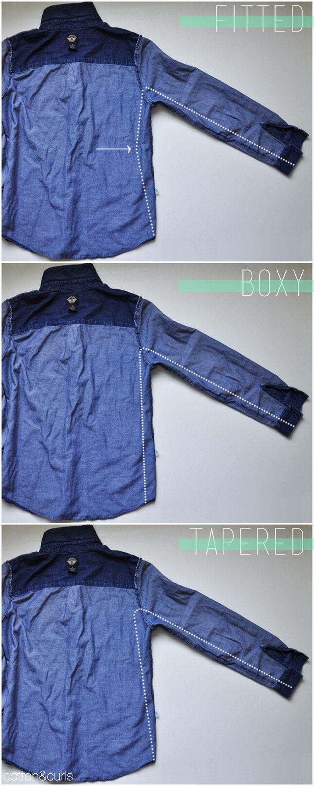 C: 3 ways to revamp a button up shirt