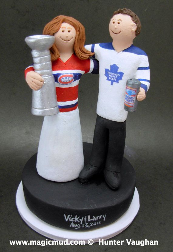 maple leaf wedding cake topper 53 best hockey wedding cake toppers images on 17113