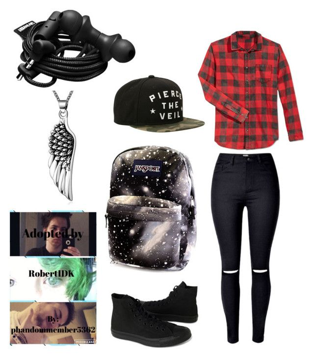 """""""Fanfic no.3"""" by gabethetransboy on Polyvore featuring JayWalker, Converse and Urbanears"""