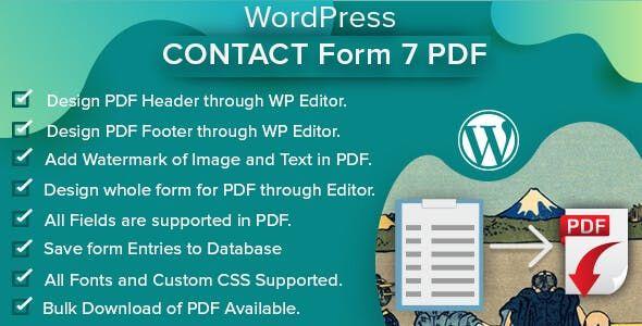 WordPress Contact Form 7 PDF plugin facilitate the admin and