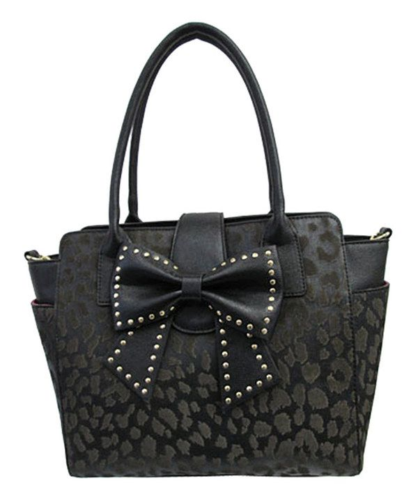 $59.99 Merry Christmas to me:) I adore this!!! Betsey Johnson Black Leopard Sincerely Yours Tote