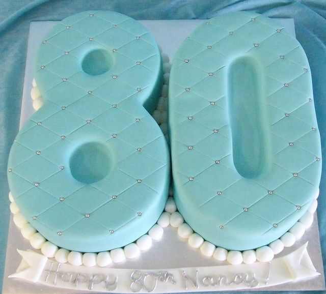 80th birthday party ideas   80th Birthday Cake