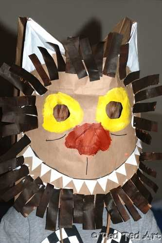 For all Where The Wild Things Are Fans - check out this wild thing paper bag mask craft