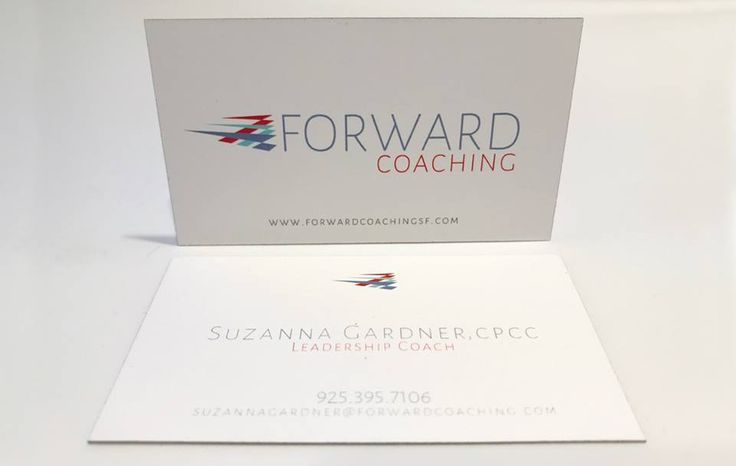 #Businesscards are an essential calling card for your business. These 22pt #Uncoated Business Cards with Grey Edge Painting for Forward #Coaching show off the texture of the paper, while putting the #brand front and center!