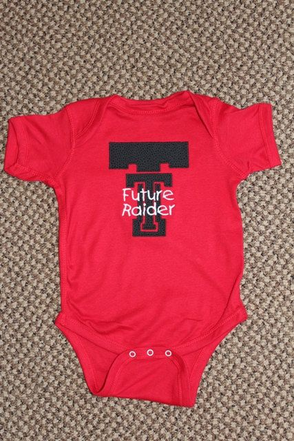 Hey, I found this really awesome Etsy listing at http://www.etsy.com/listing/129788396/texas-tech-raider-onesie