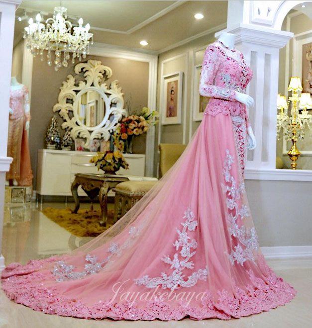 wedding dress kebaya modern pink 2016