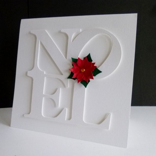 Single Poinsetia by sistersandie - Cards and Paper Crafts at Splitcoaststampers