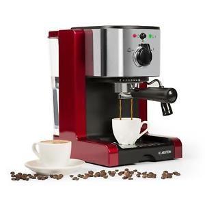a cafetera maquina espresso manual cafe espumador acero inoxidable 20 bar roja