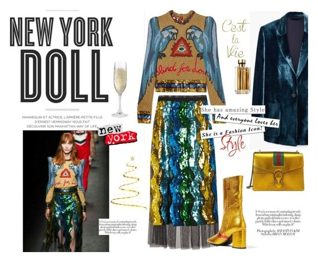 New York Doll by maria-tzi on Polyvore featuring Gucci, MANGO, MR by Man Repeller, Wine Enthusiast, Hemingway, Prada and MML