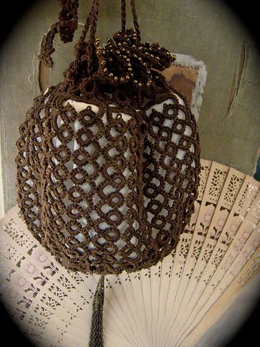 Tatted Lace Reticule ♥ tatting