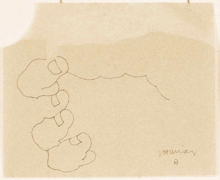 Eduardo Chillida / collage y dibujo (manos)