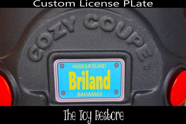 Replacement Decals fits Little Tikes Cozy Coupe #Bahamas Custom Number Plate #TheToyRestore #LittleTikes #CozyCoupe #LicensePlate #NumberPlate #Vanity #CozyCoupeRedo #CozyCoupeMod #CozyCoupeMakeover