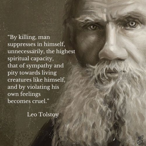 Tolstoy,  one of my top three favorite writers,  along with Henry  Miller and Emily Bronte...though Tolstoy in my opinion was a great philosopher of his era, a Christian vegetarian and progressive social thinker.