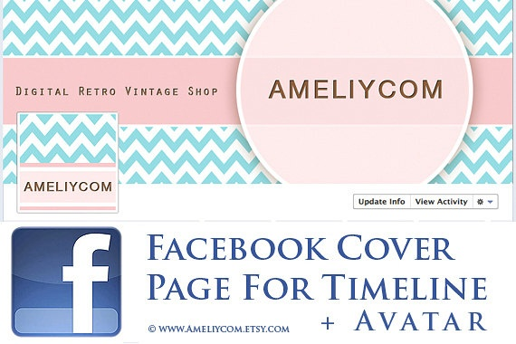 FB banners Facebook banner Timeline Cover Page Avatar by AmeliyCom, $7.00