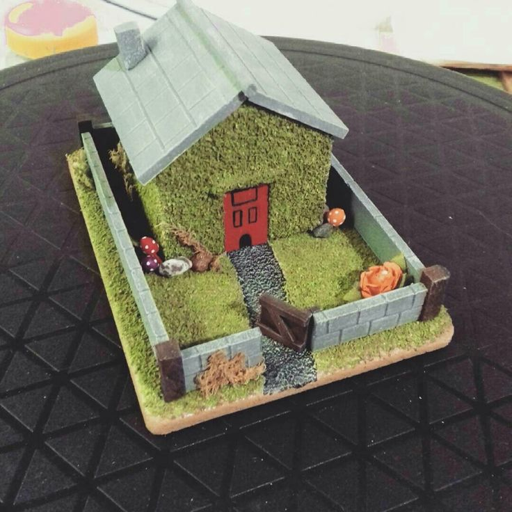 Fantasy Gnome house (update 3). Here is another update of the small fantasy house I have been working on. Final steps being completed for Christmas