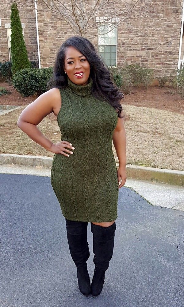 How To Look Hot When It's Cold | The Ultimate Guide To Plus Size Sweater Dresses - Fashion To Figure
