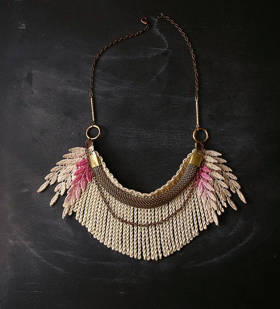 ombre fringe necklace  the no 021 lace necklace by weareVANDAL, $45.00