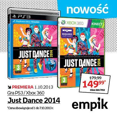 """Naśladuj ruchy tancerzy z ekranu i osiągnij mistrzostwo w tańcu do muzyki Davida Guetty, Glorii Gaynor czy PSY! Dziś premiera """"Just Dance 2014"""" :)"""