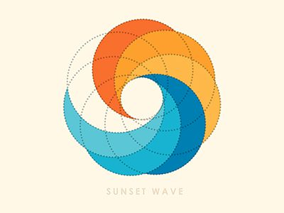 Sunset Wave Logo by Yoga Perdana on Dribbble.com