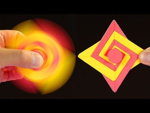 DIY Paper Ninja Fidget Spinner | Easy Ninja Star Spinner Tutorial - YouTube