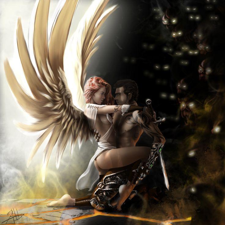 Дню, картинки с демонами и ангелами любовь