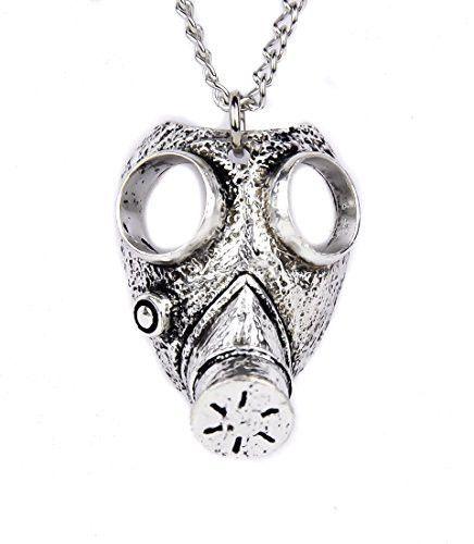 Israeli Gas Mask Necklace Gothic Apocalypse Design Jewelry