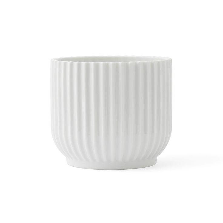 Lyngby+Blomsterpotte+Liten,+Hvit,+Lyngby+Porcelæn