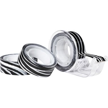 Tejp zebramönstrat 3-pack