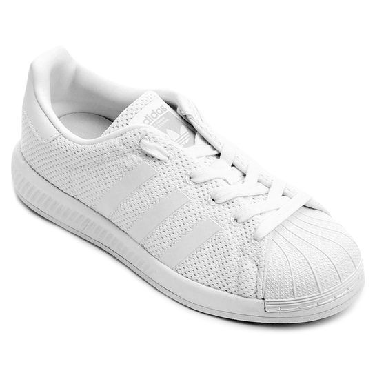 Tênis Adidas Superstar Bounce J Infantil - Branco