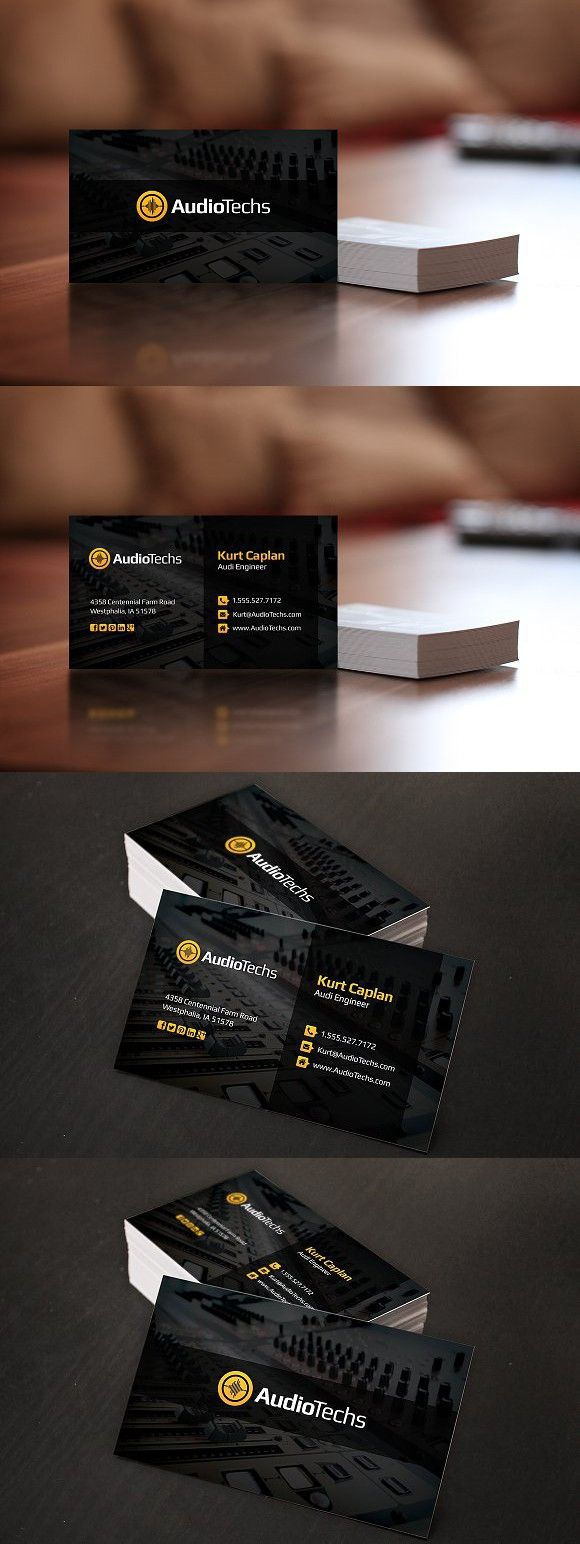 Audio Engineer Business Cards Logo Business Card Photoshop Business Card Dimensions Printing Business Cards